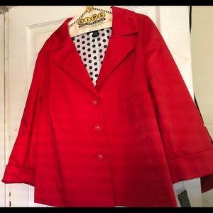 Alfani Red Coat NWT Women Sz22W